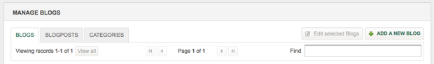 manage blogs - manage blogs screenshot