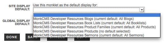 Blogs: Site Display Default